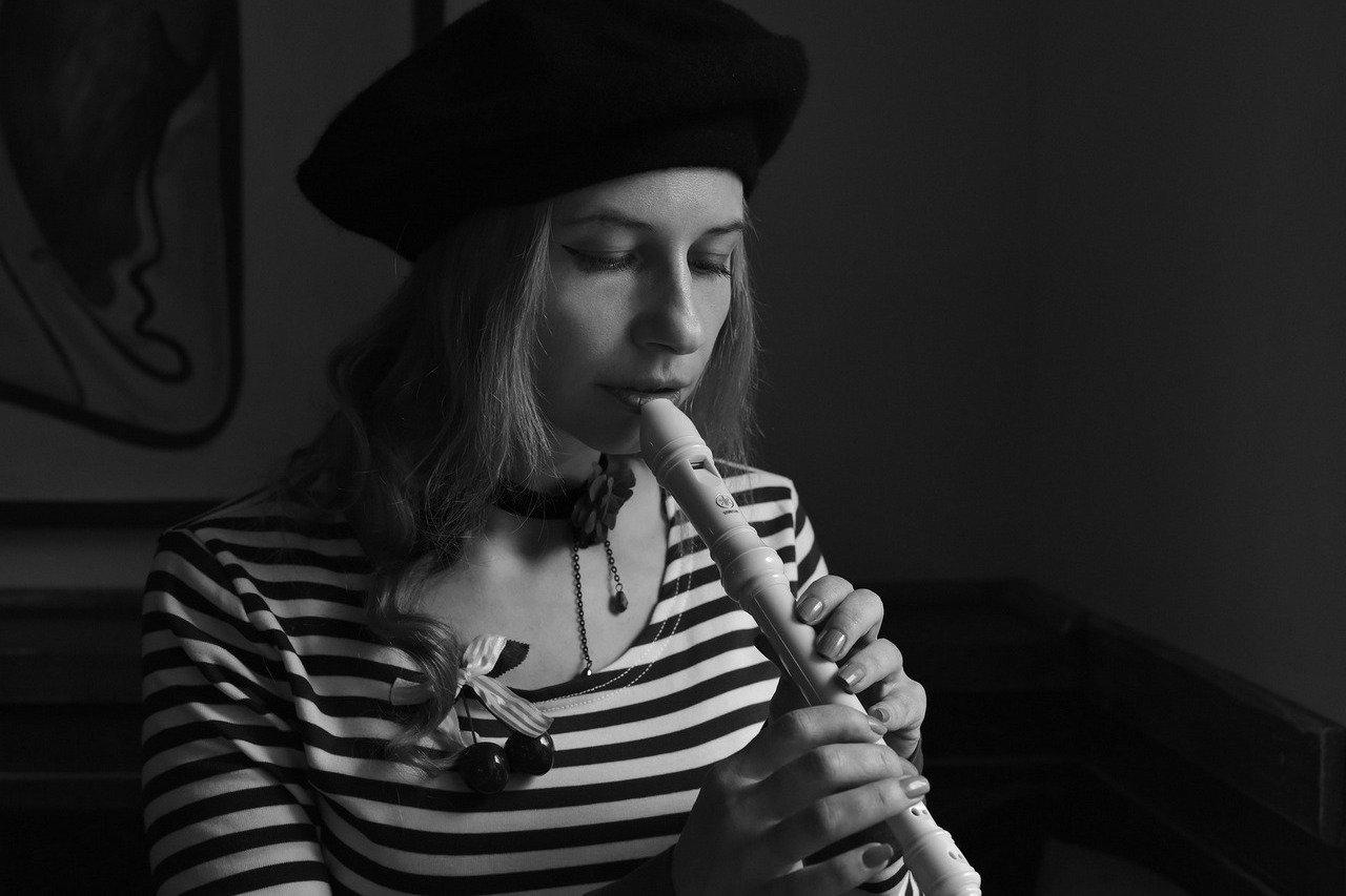 Mädchen Flöte
